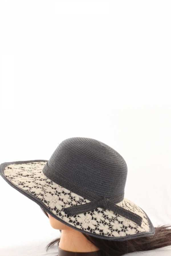 LACE DETAIL WOMEN FLOPPY HAT