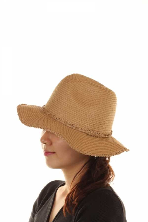 WOMEN PAPER FLOPPY HAT