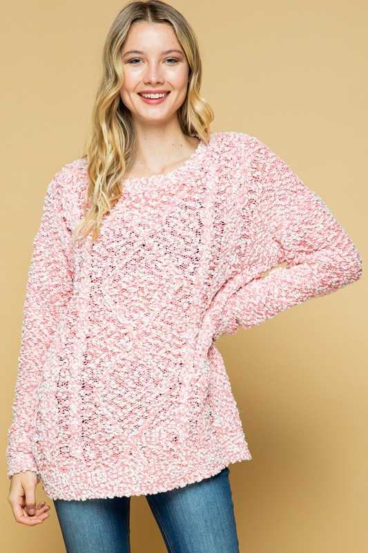 LOOSE FIT SOFT SWEATER TUNIC TOP