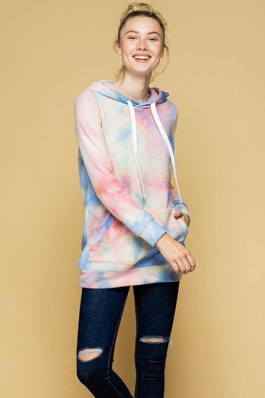 PULL OVER HOODIE TUNIC TOP