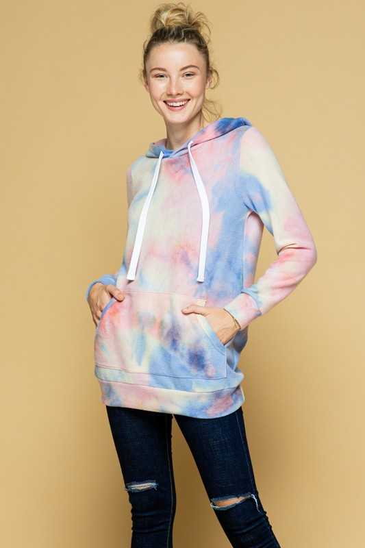 PLUS SIZE-PULL OVER HOODIE TUNIC TOP