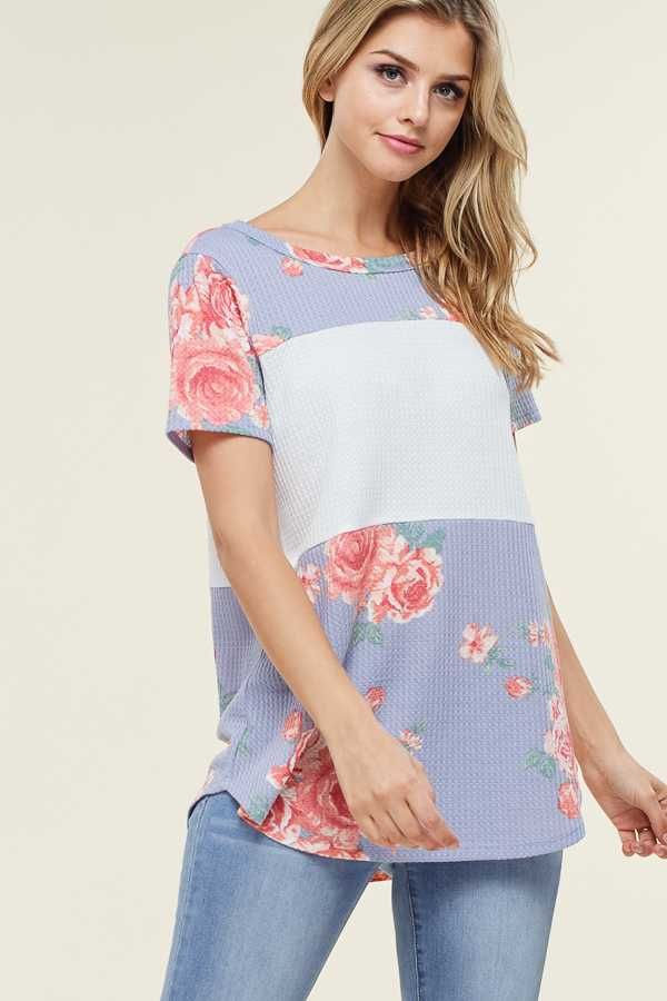 FLORAL DETAILED TUNIC TOP
