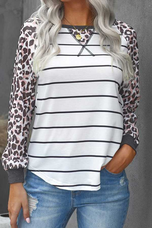 PRE ORDER FEB 25-MIX PRINT CONTRAST TOP
