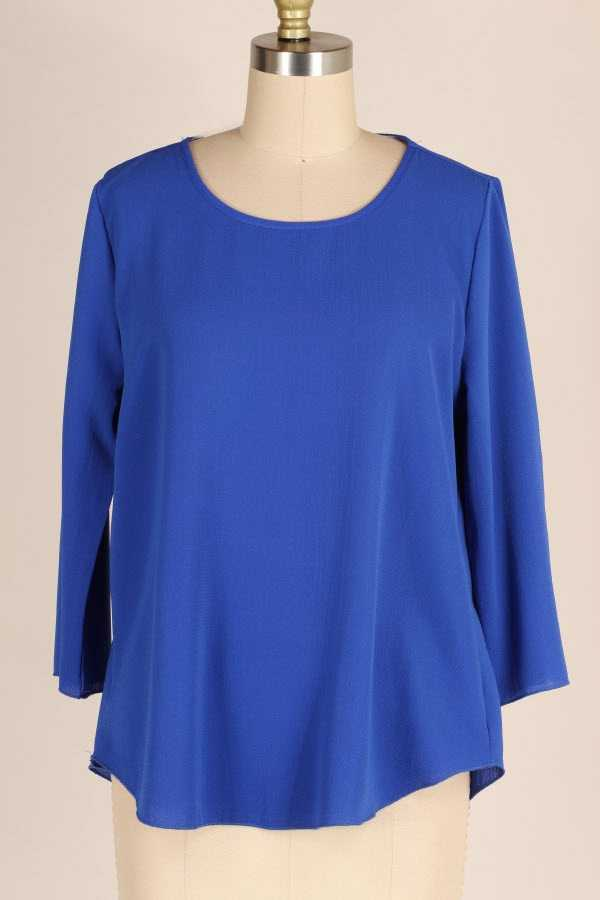LOOSE FIT SOLID TUNIC TOP