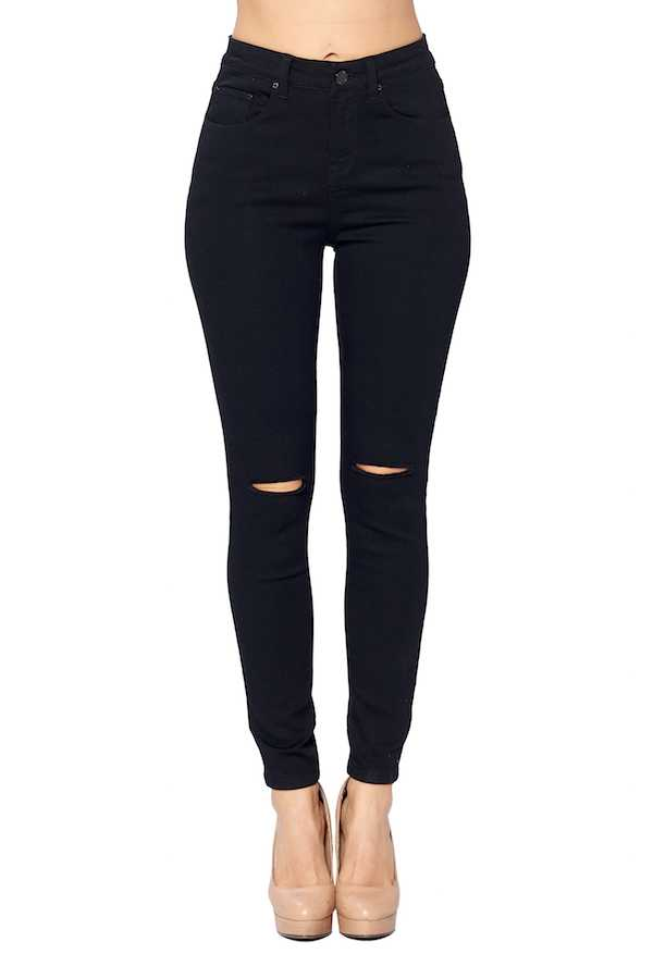 MID RISE DISTRESSED DENIM JEANS