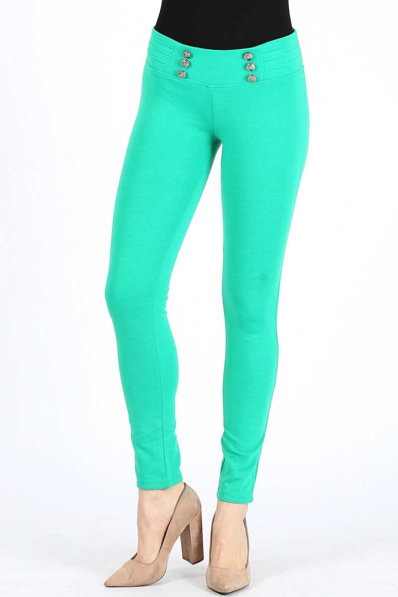 COLOR DETAILED JEGGINGS