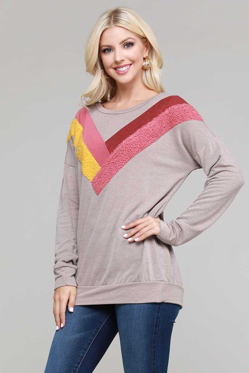 COLORBLOCK DETAILED TOP
