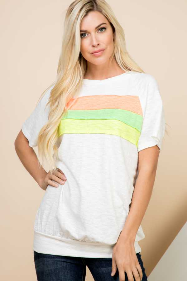 COLOR BLOCKED TOP
