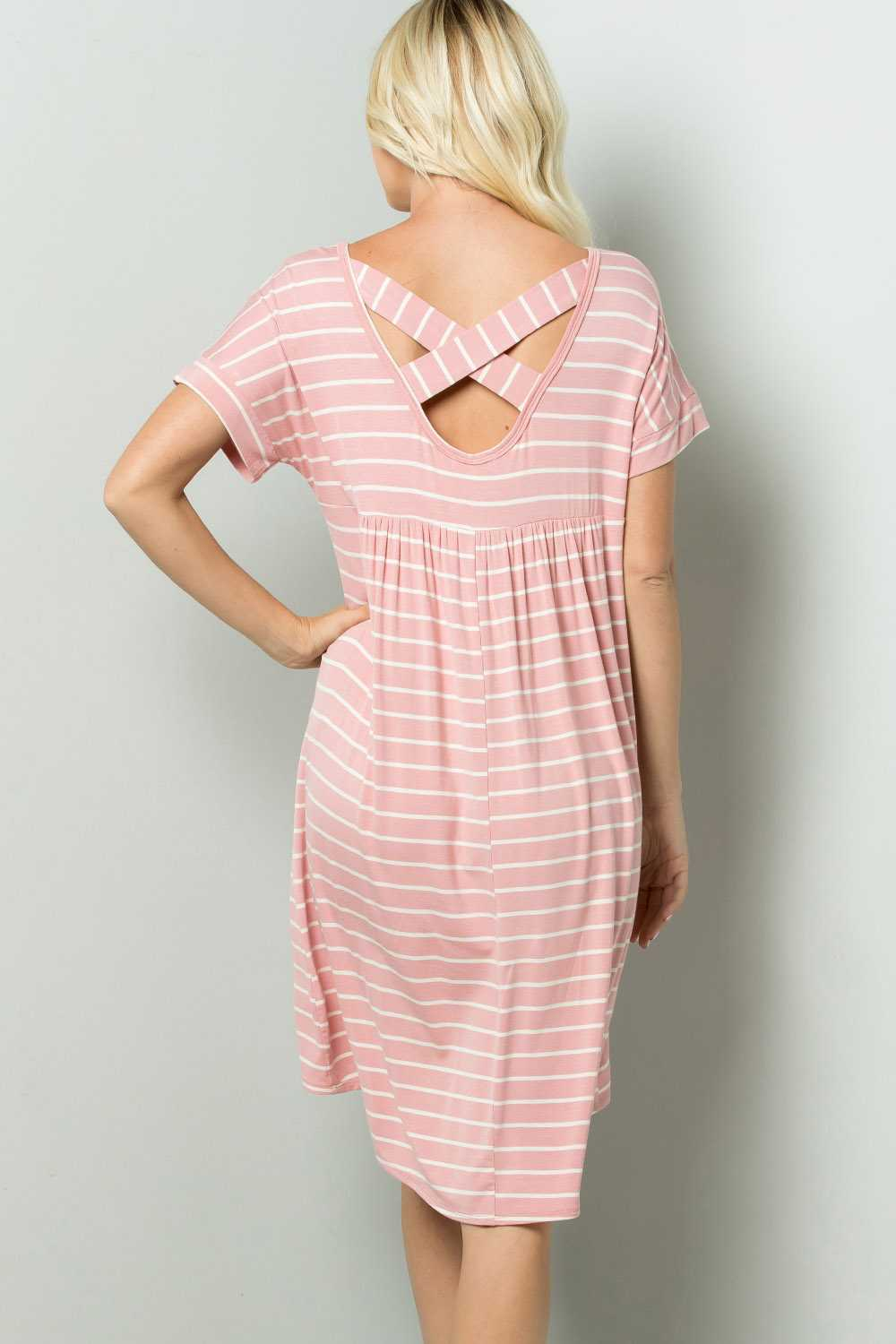 PLUS SIZE STRIPED TUNIC DRESS