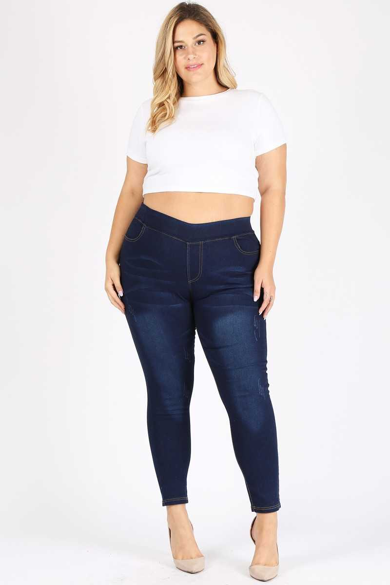 PLUS SIZE DENIM JEGGINGS