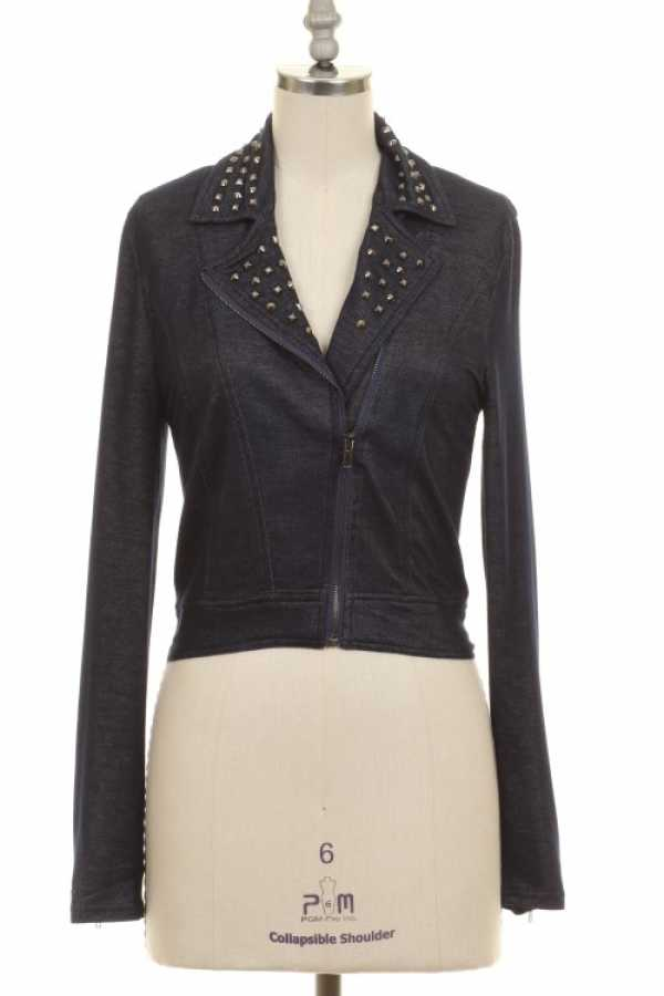 STUD DETAILED MOTO BLAZER