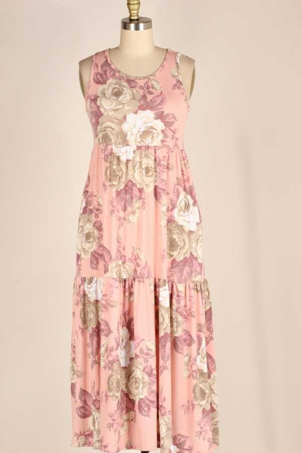 FLORAL PRINT MID LENGTH DRESS