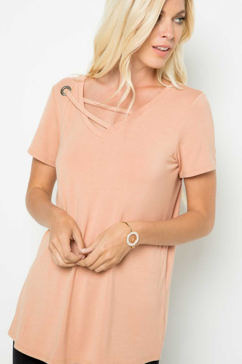 7/12 PRE ORDER-2 STRAPS DETAILED TUNIC TOP