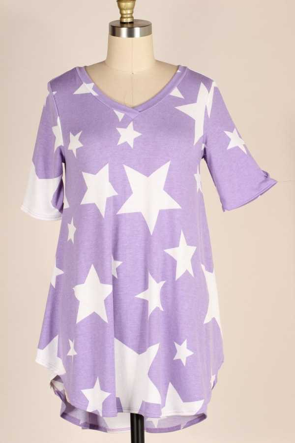 STAR PRINT TUNIC TOP